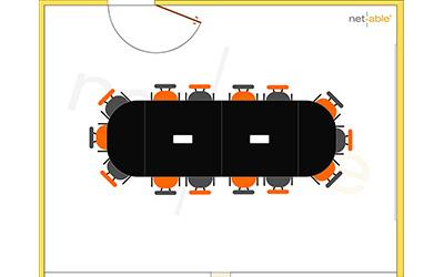 Tagungsraum Beispiel mit bis zu 14 Sitzplätzen